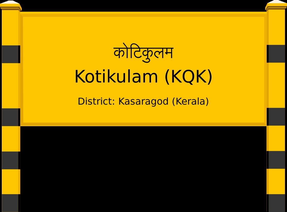 Kotikulam (KQK) Railway Station