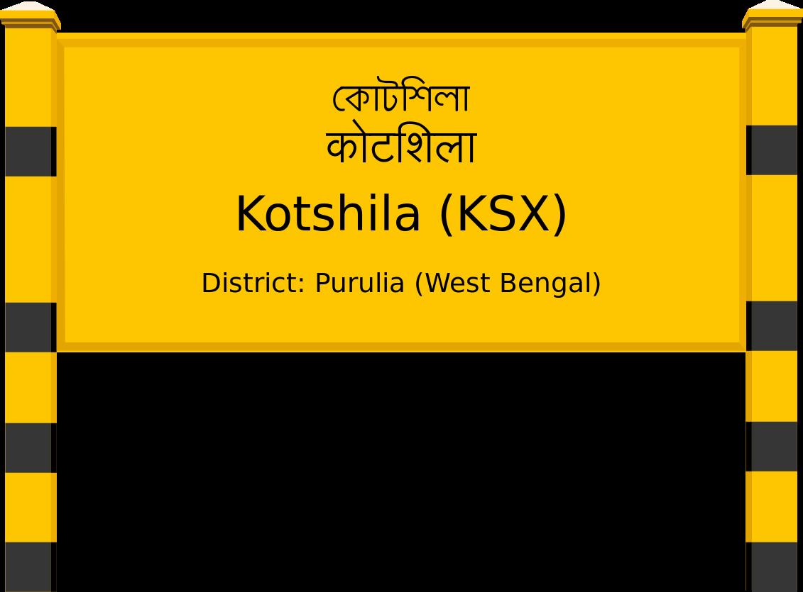 Kotshila (KSX) Railway Station