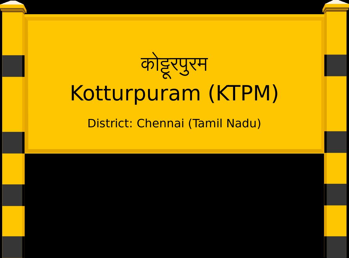 Kotturpuram (KTPM) Railway Station