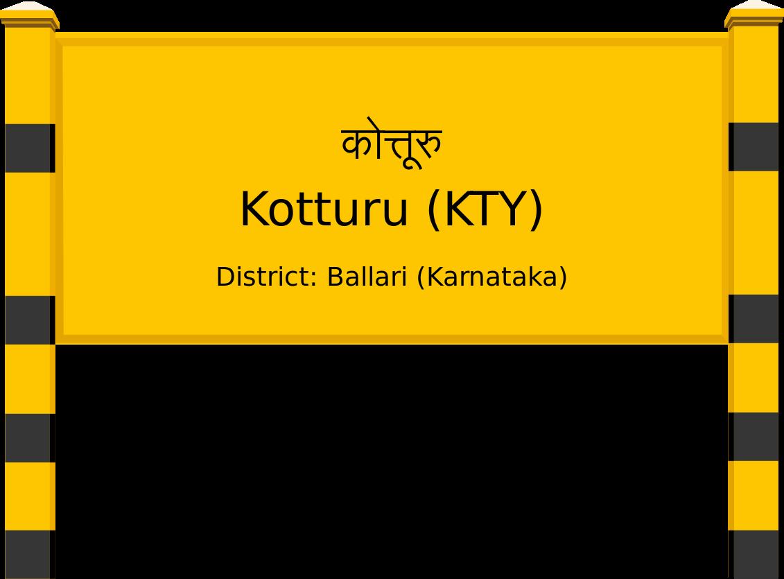Kotturu (KTY) Railway Station