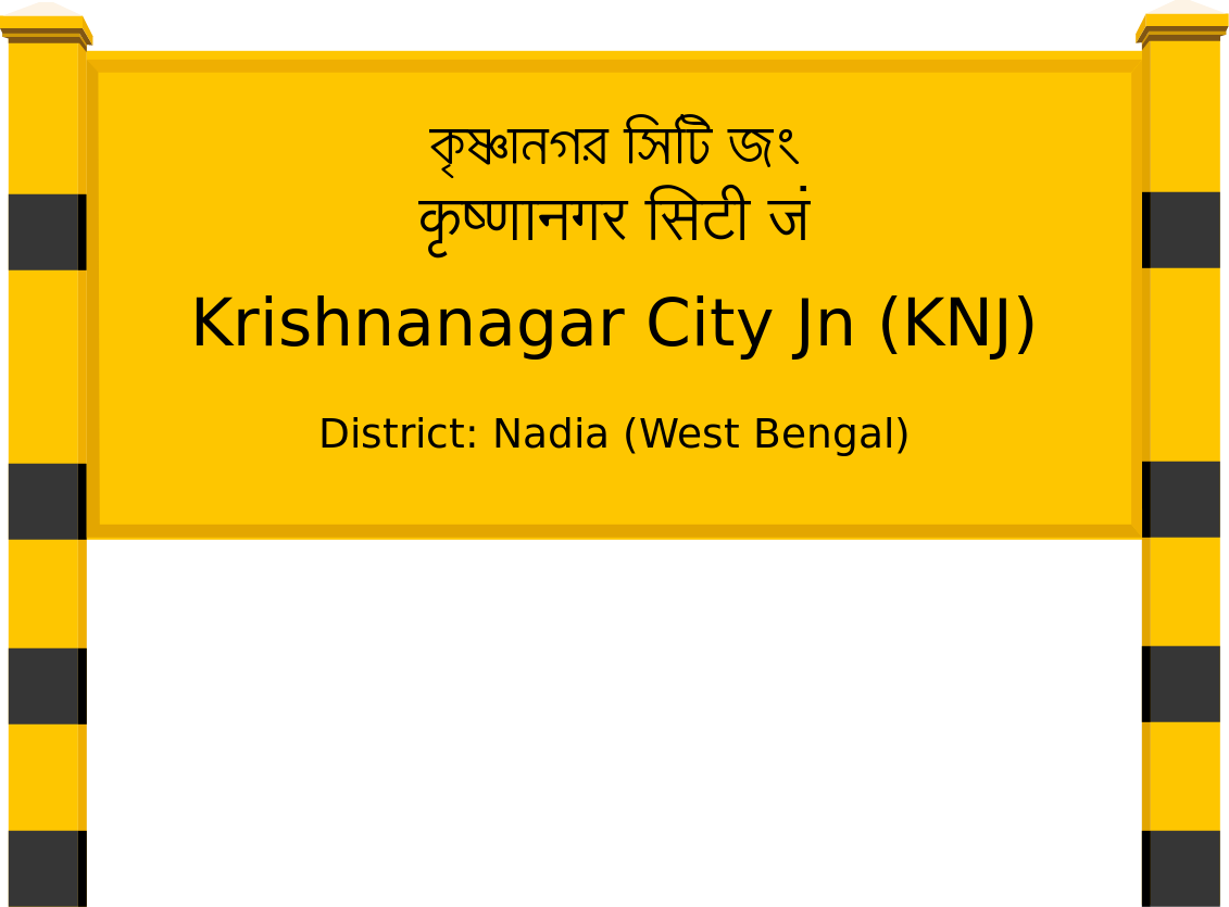 Krishnanagar City Jn (KNJ) Railway Station