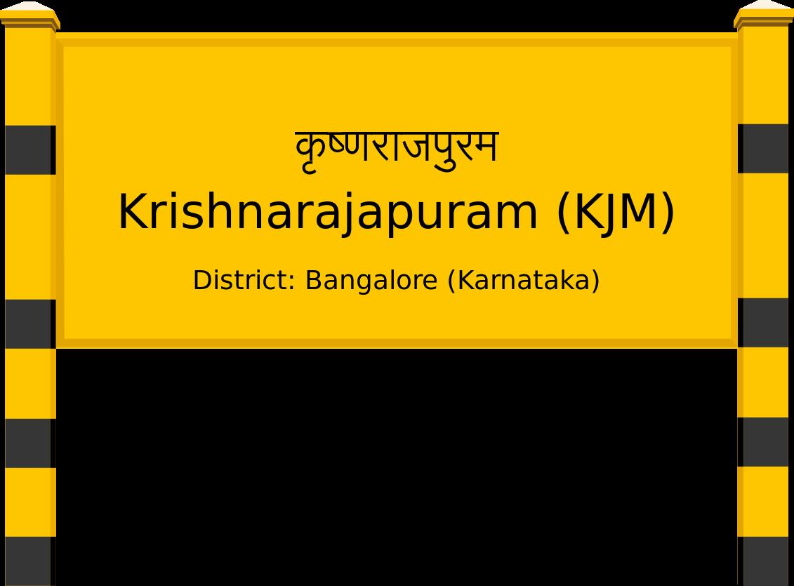 Krishnarajapuram (KJM) Railway Station