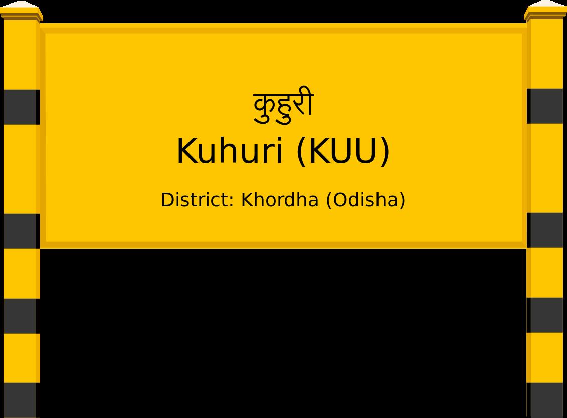 Kuhuri (KUU) Railway Station