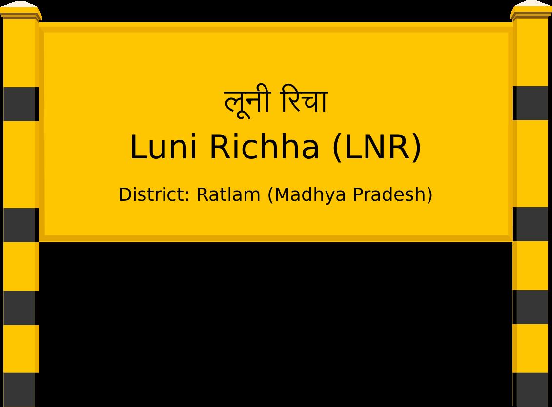 Luni Richha (LNR) Railway Station