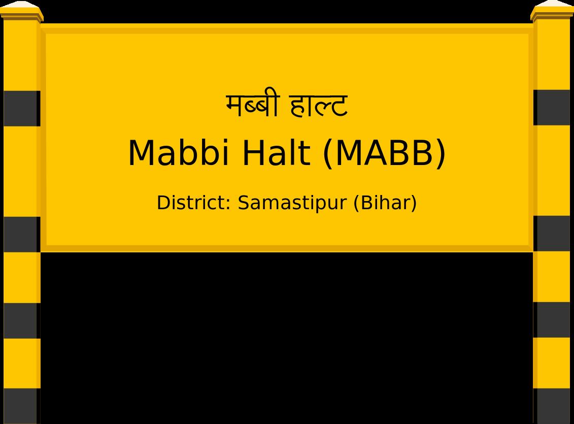 Mabbi Halt (MABB) Railway Station