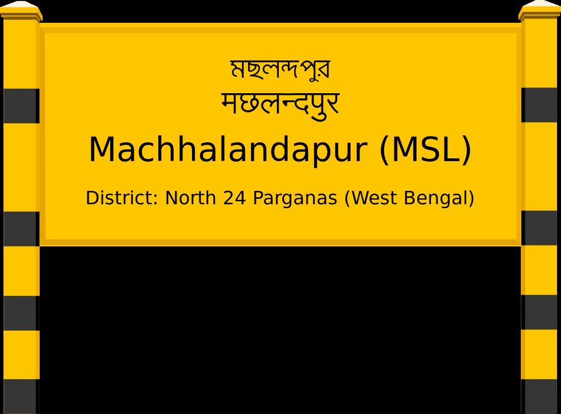 Machhalandapur (MSL) Railway Station