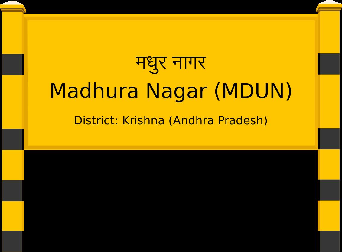 Madhura Nagar (MDUN) Railway Station