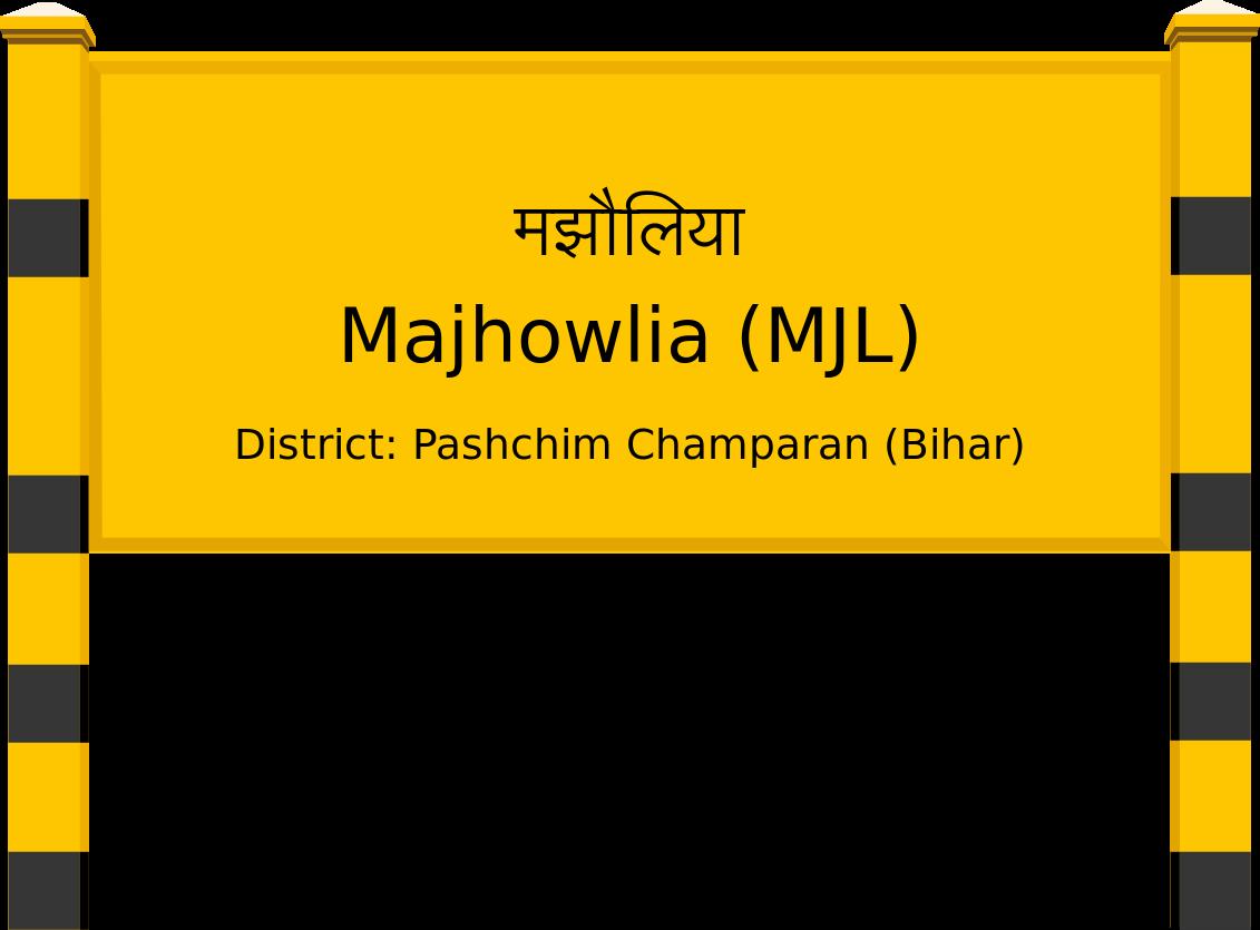Majhowlia (MJL) Railway Station