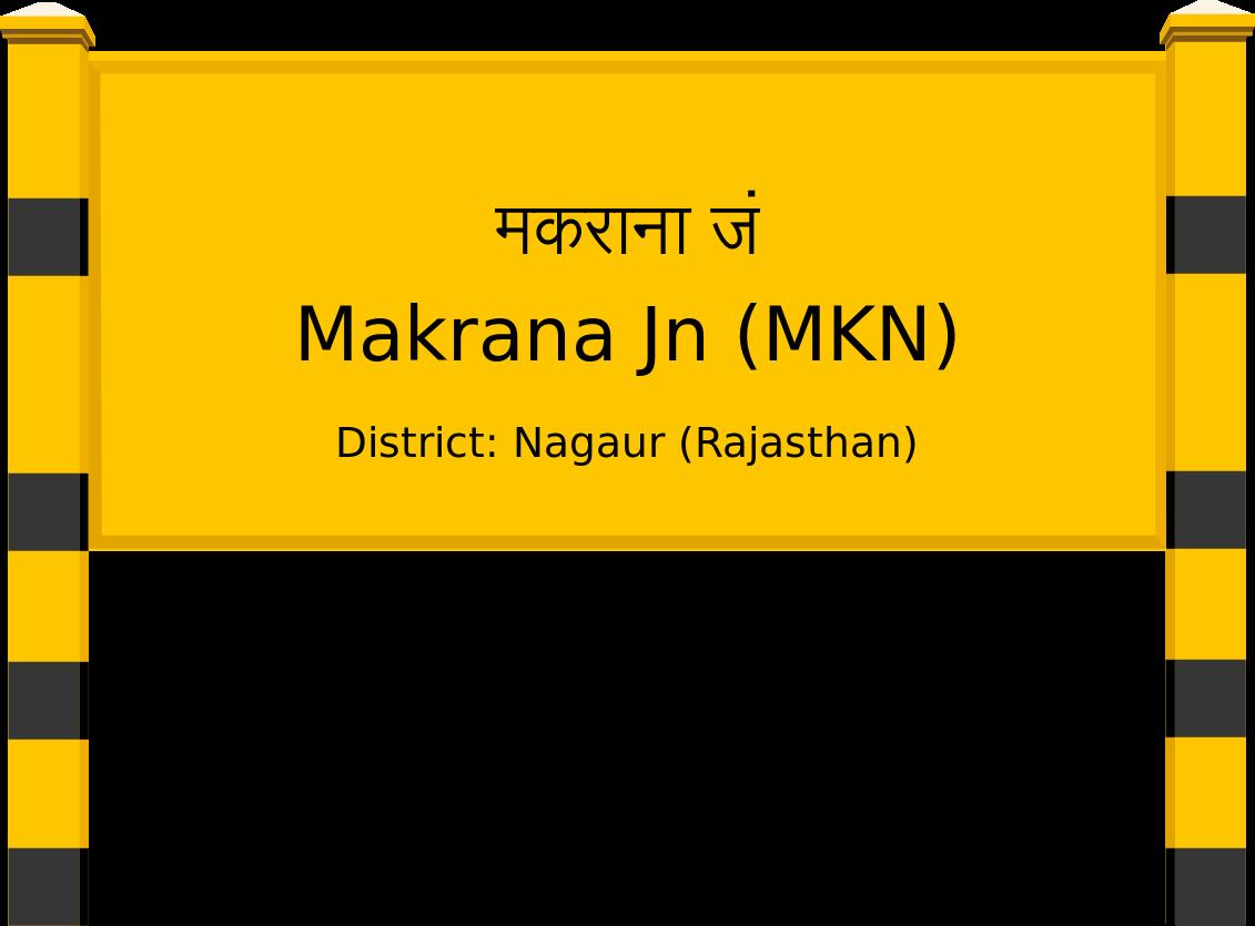 Makrana Jn (MKN) Railway Station
