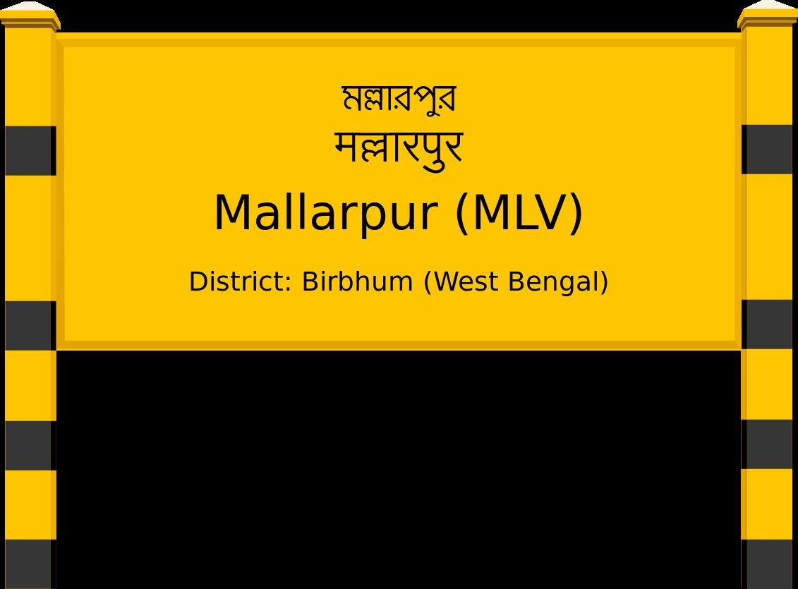 Mallarpur (MLV) Railway Station