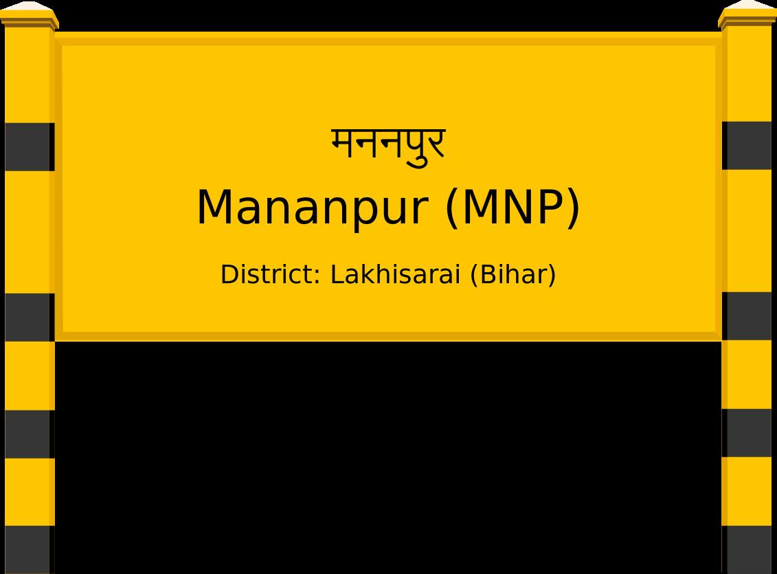 Mananpur (MNP) Railway Station