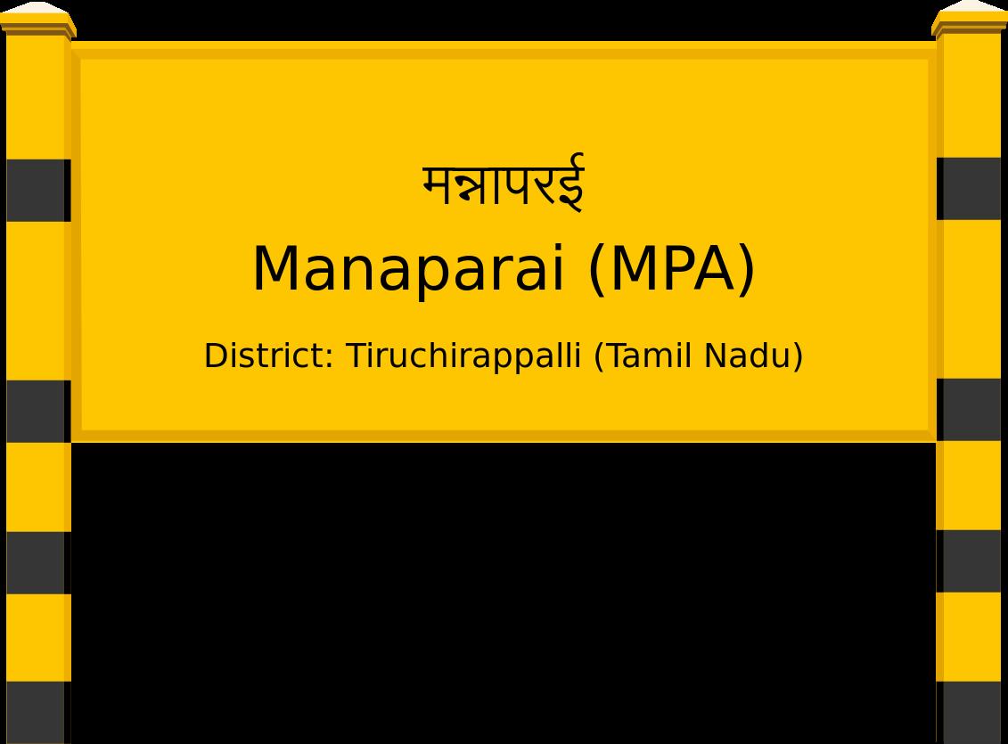 Manaparai (MPA) Railway Station