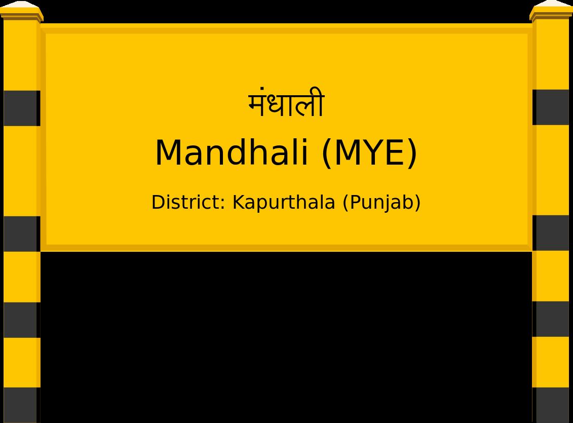 Mandhali (MYE) Railway Station