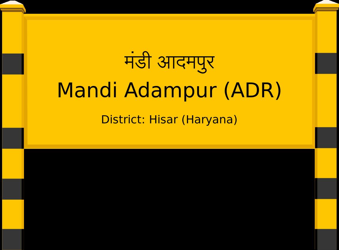 Mandi Adampur (ADR) Railway Station
