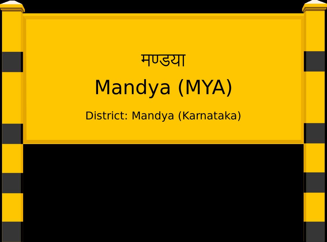 Mandya (MYA) Railway Station