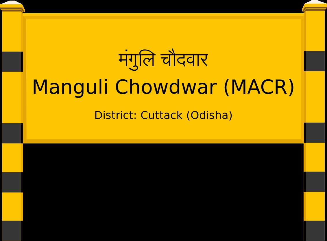 Manguli Chowdwar (MACR) Railway Station