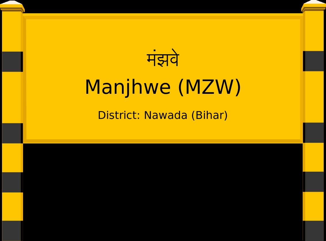 Manjhwe (MZW) Railway Station