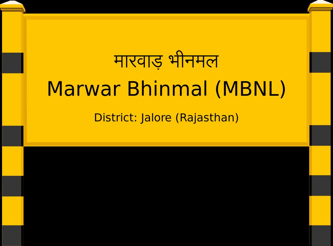 Marwar Bhinmal (MBNL) Railway Station