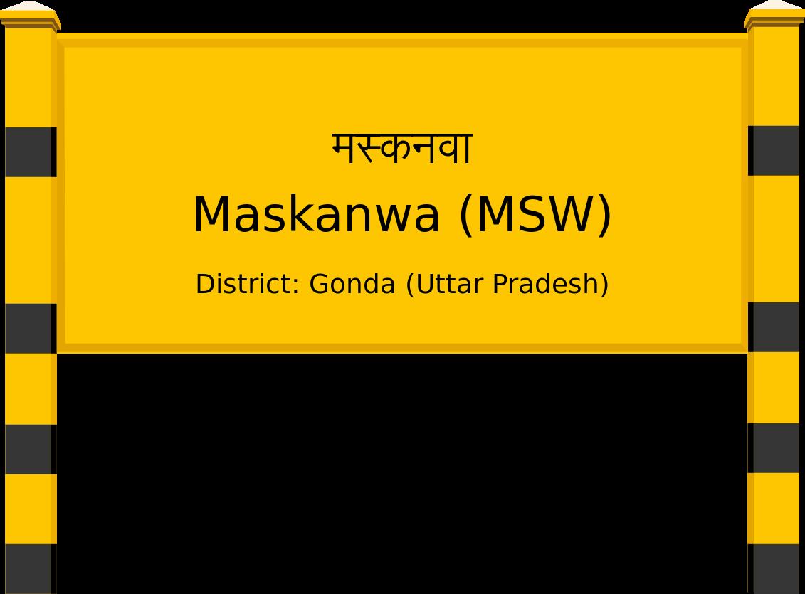 Maskanwa (MSW) Railway Station