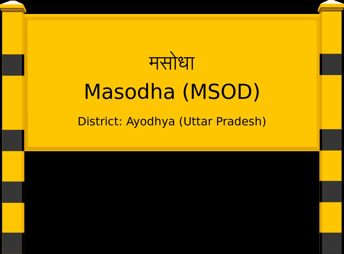 Masodha (MSOD) Railway Station