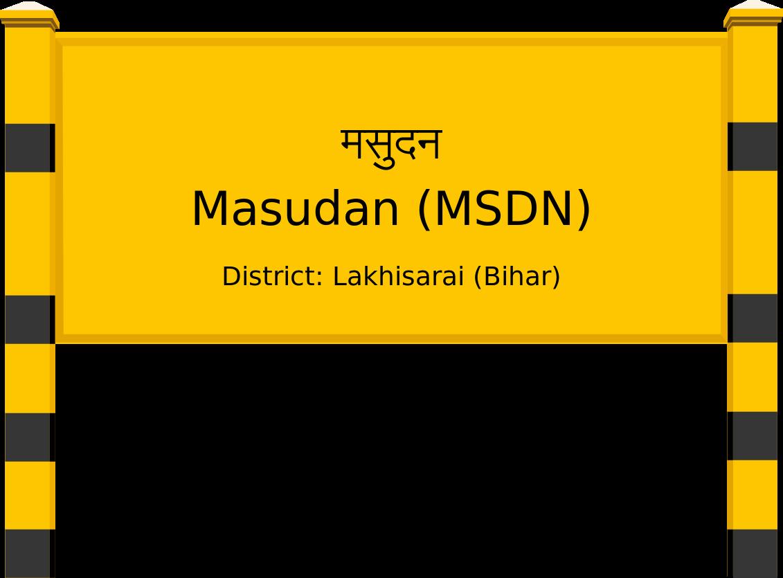 Masudan (MSDN) Railway Station