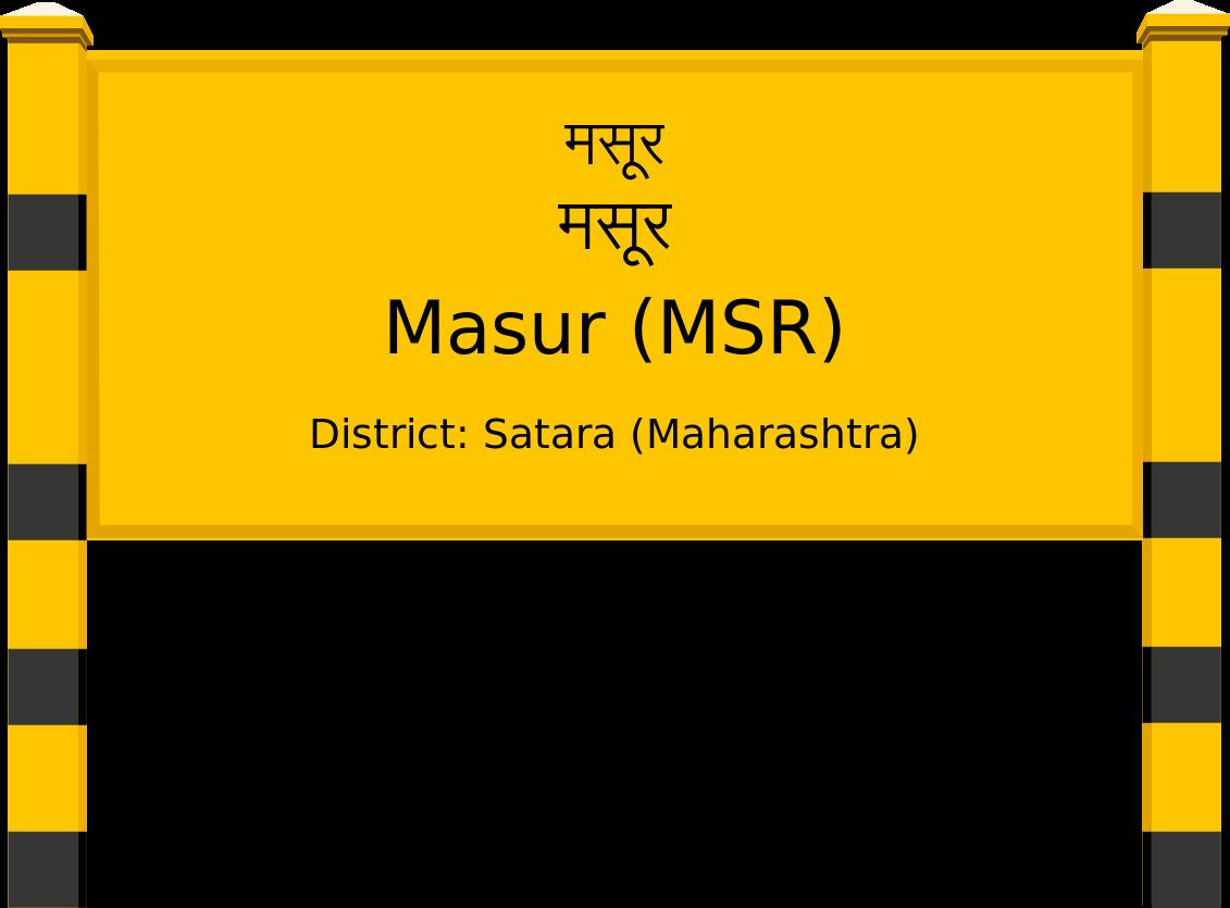 Masur (MSR) Railway Station