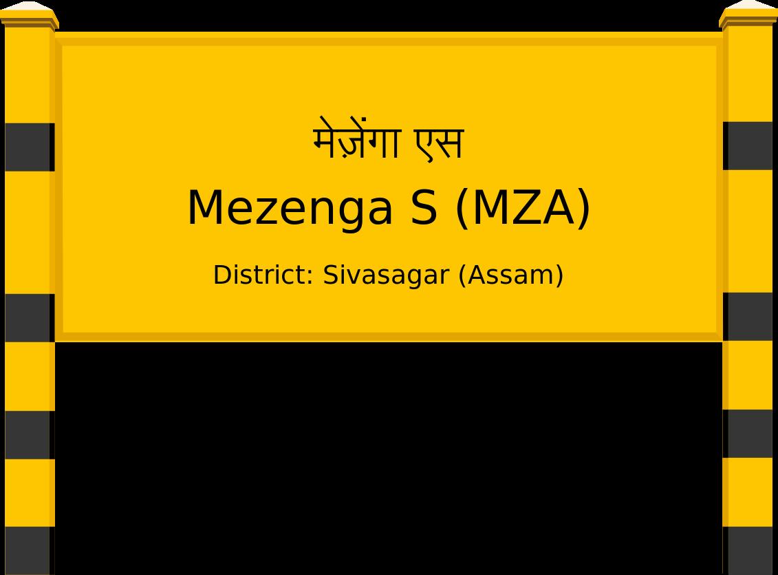 Mezenga S (MZA) Railway Station