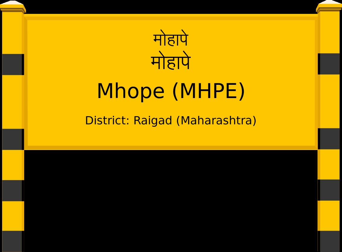 Mhope (MHPE) Railway Station