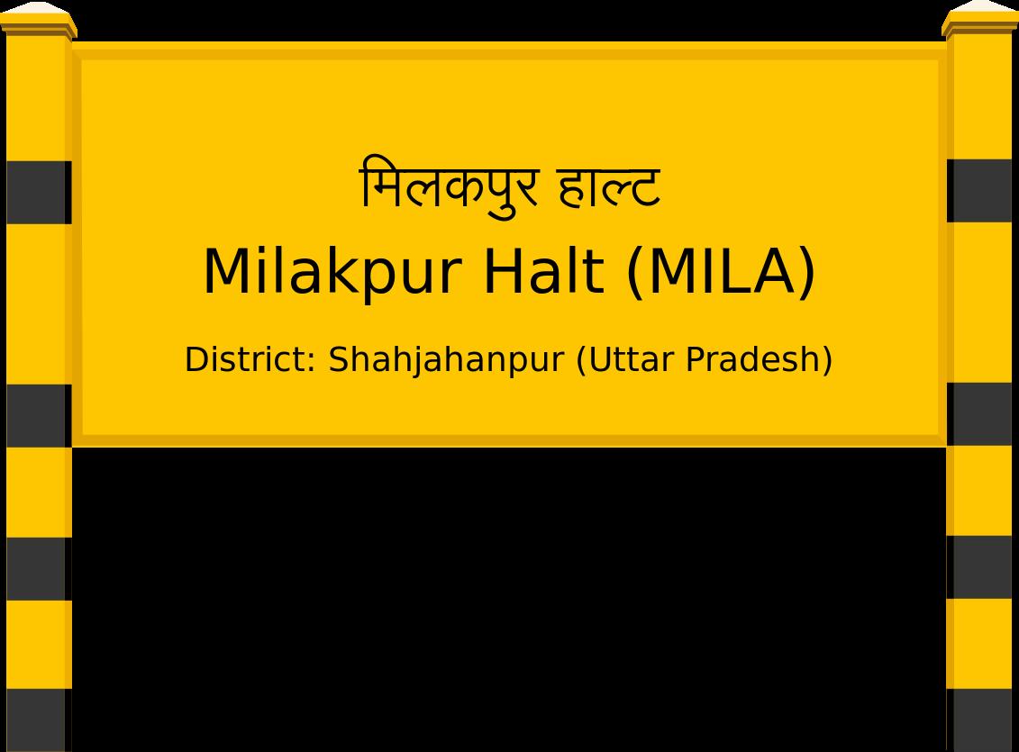 Milakpur Halt (MILA) Railway Station