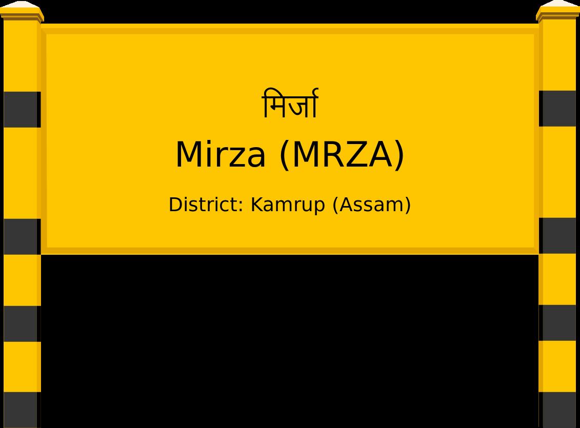 Mirza (MRZA) Railway Station