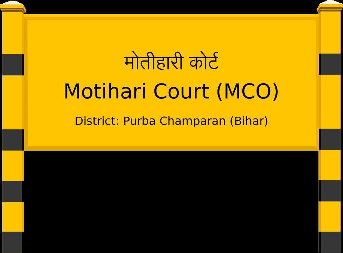 Motihari Court (MCO) Railway Station