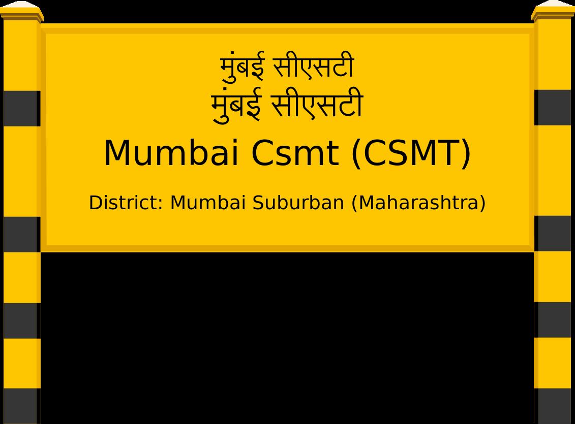 Mumbai Csmt (CSMT) Railway Station
