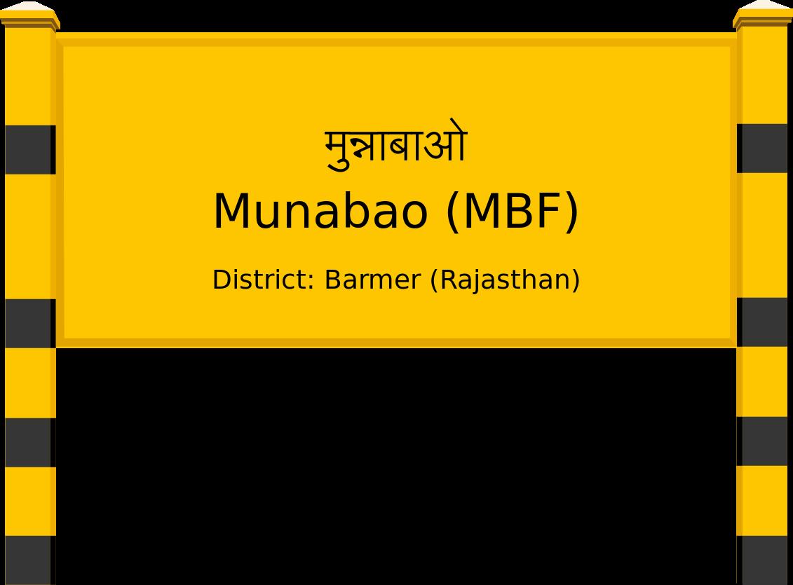 Munabao (MBF) Railway Station