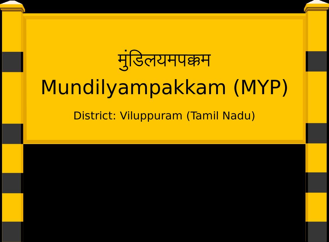 Mundilyampakkam (MYP) Railway Station