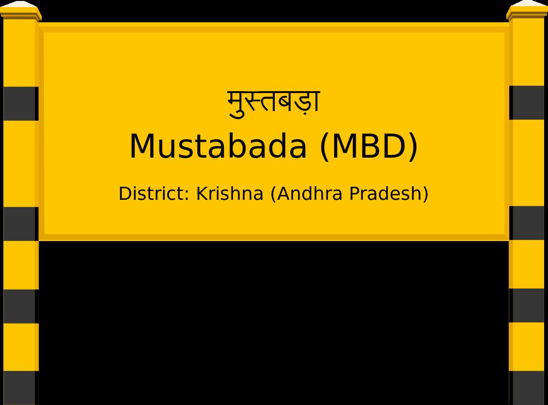 Mustabada (MBD) Railway Station