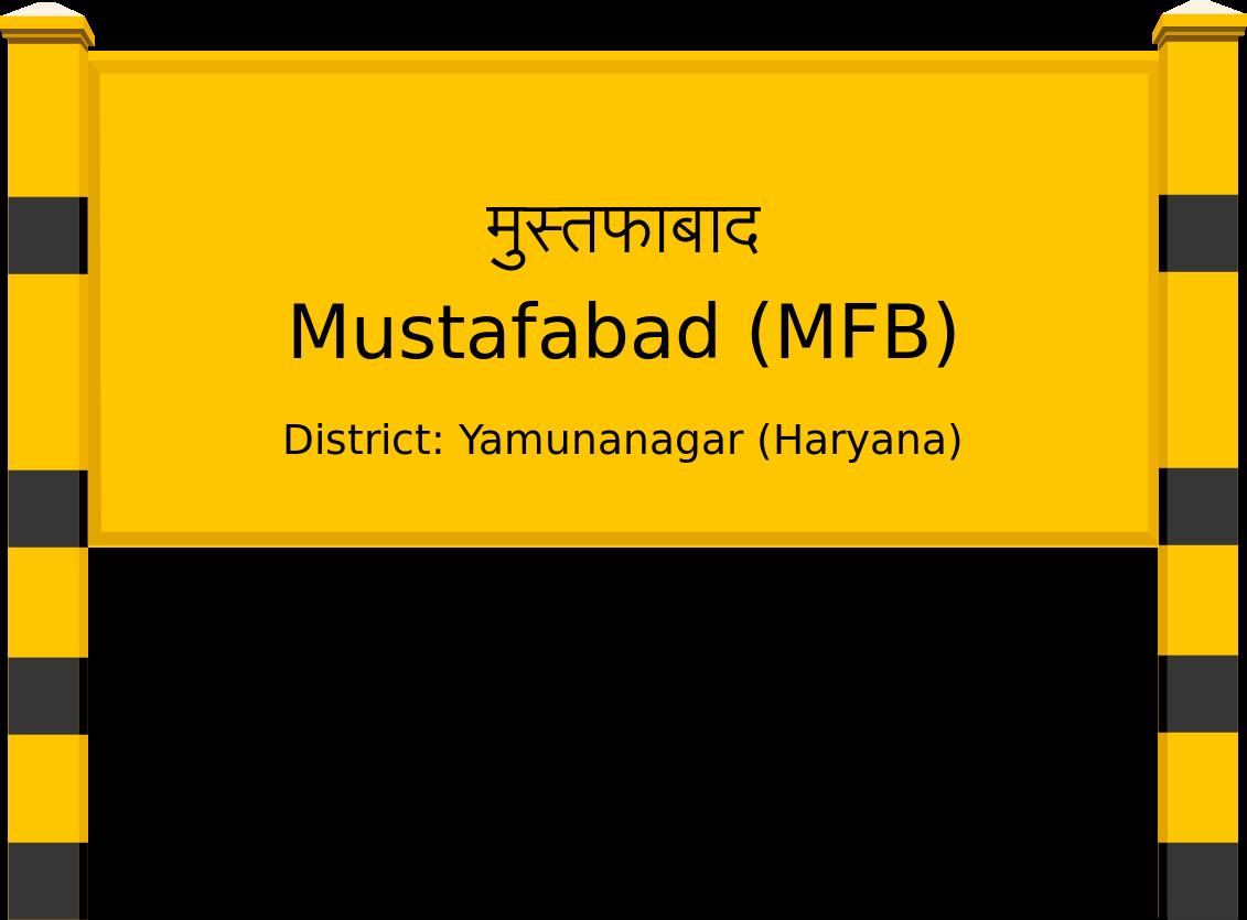 Mustafabad (MFB) Railway Station