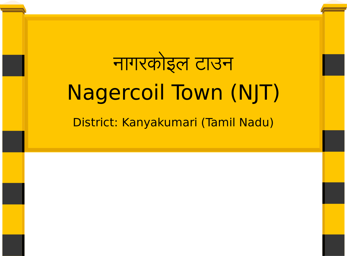 Nagercoil Town (NJT) Railway Station