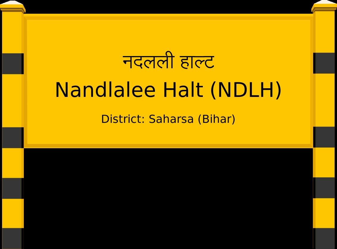 Nandlalee Halt (NDLH) Railway Station