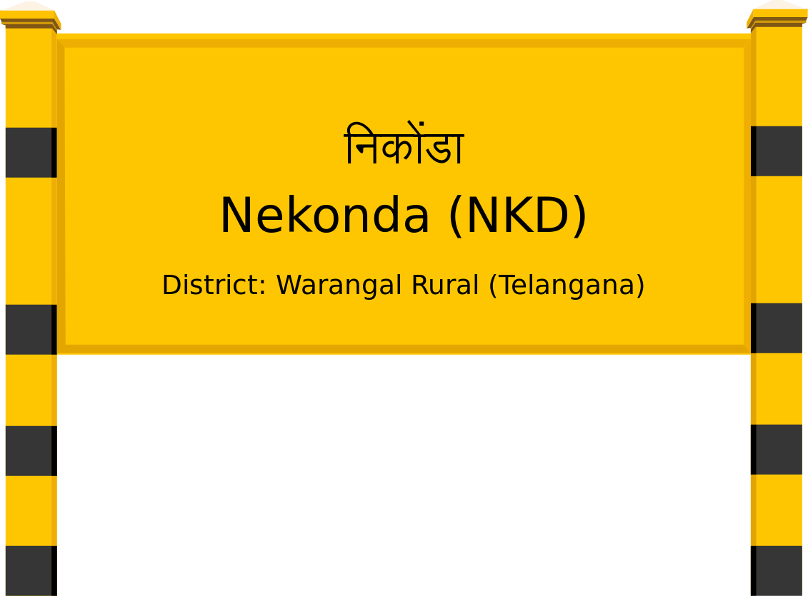 Nekonda (NKD) Railway Station