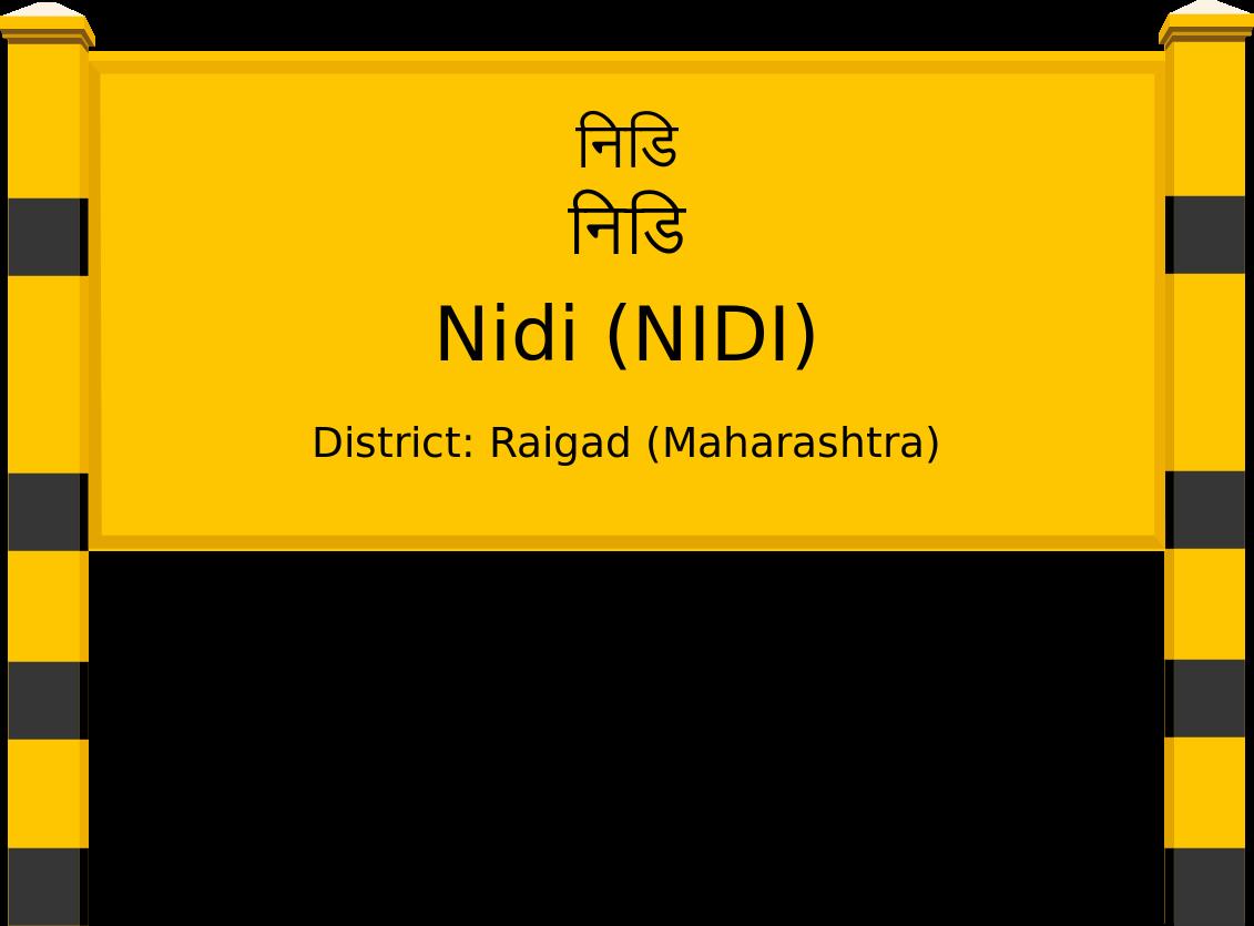 Nidi (NIDI) Railway Station