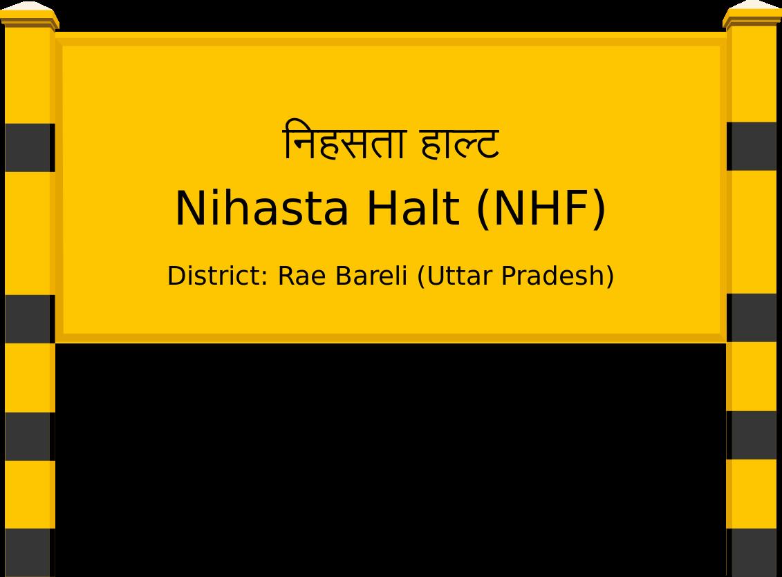 Nihasta Halt (NHF) Railway Station
