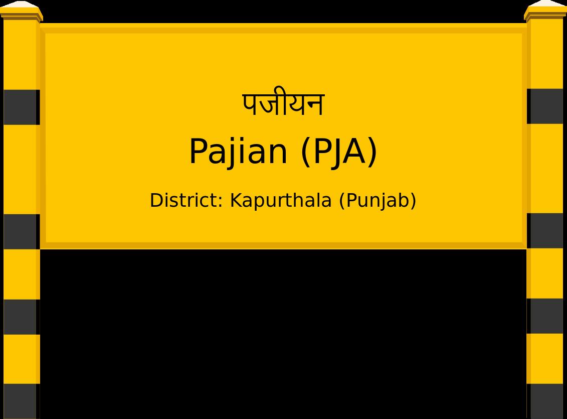 Pajian (PJA) Railway Station