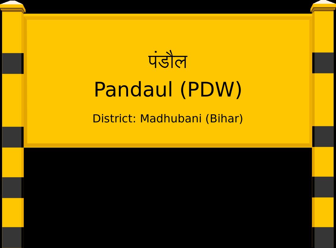 Pandaul (PDW) Railway Station