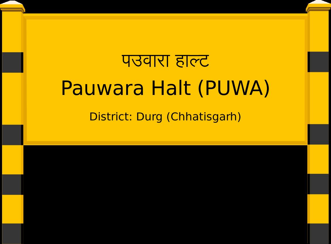 Pauwara Halt (PUWA) Railway Station