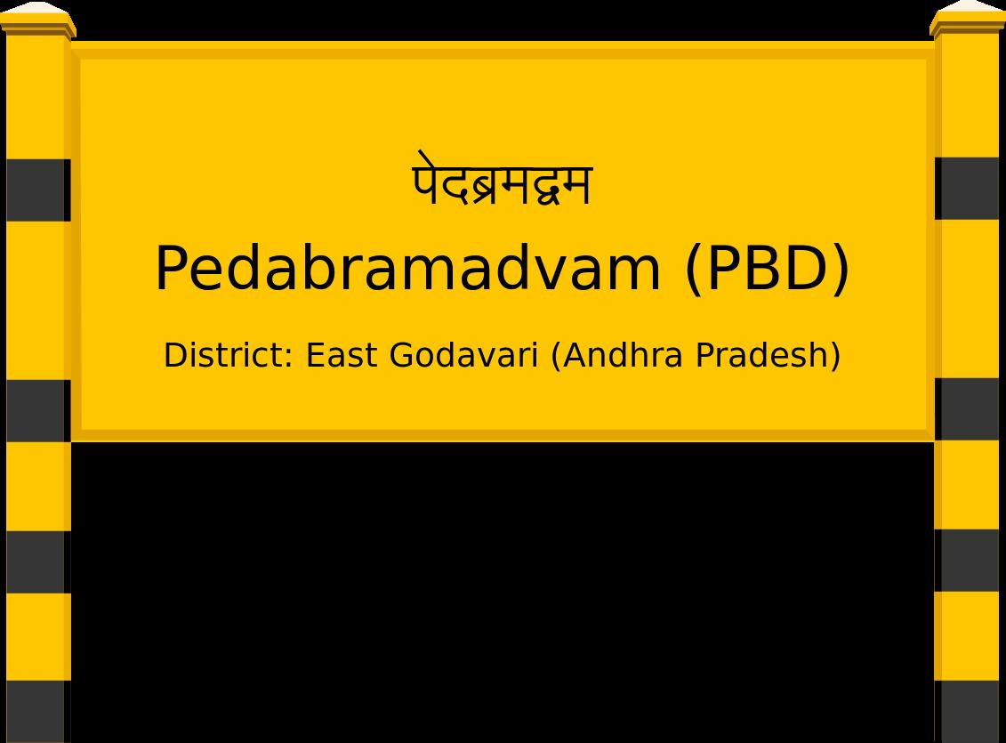 Pedabramadvam (PBD) Railway Station
