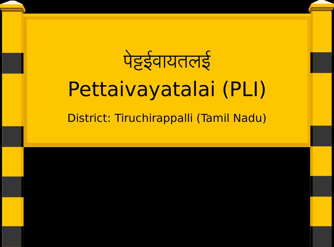 Pettaivayatalai (PLI) Railway Station