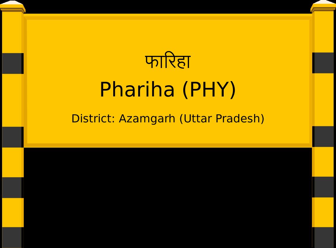 Phariha (PHY) Railway Station