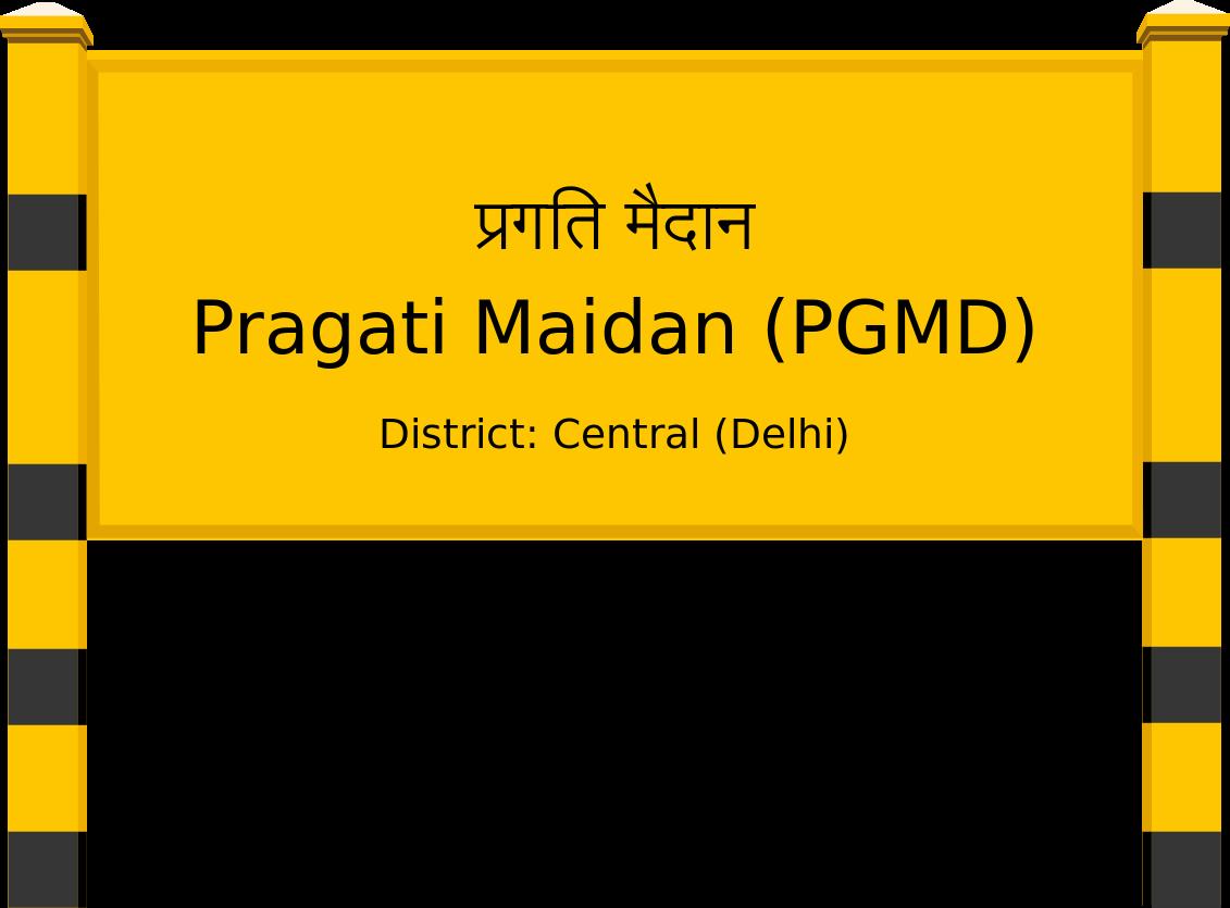 Pragati Maidan (PGMD) Railway Station