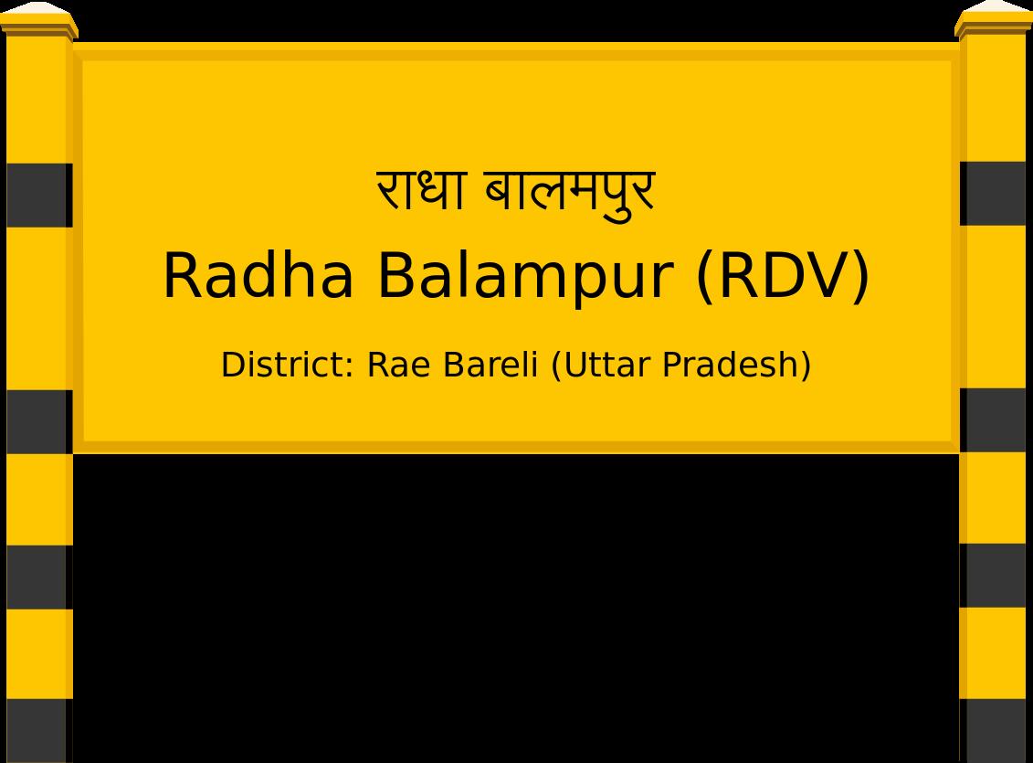 Radha Balampur (RDV) Railway Station