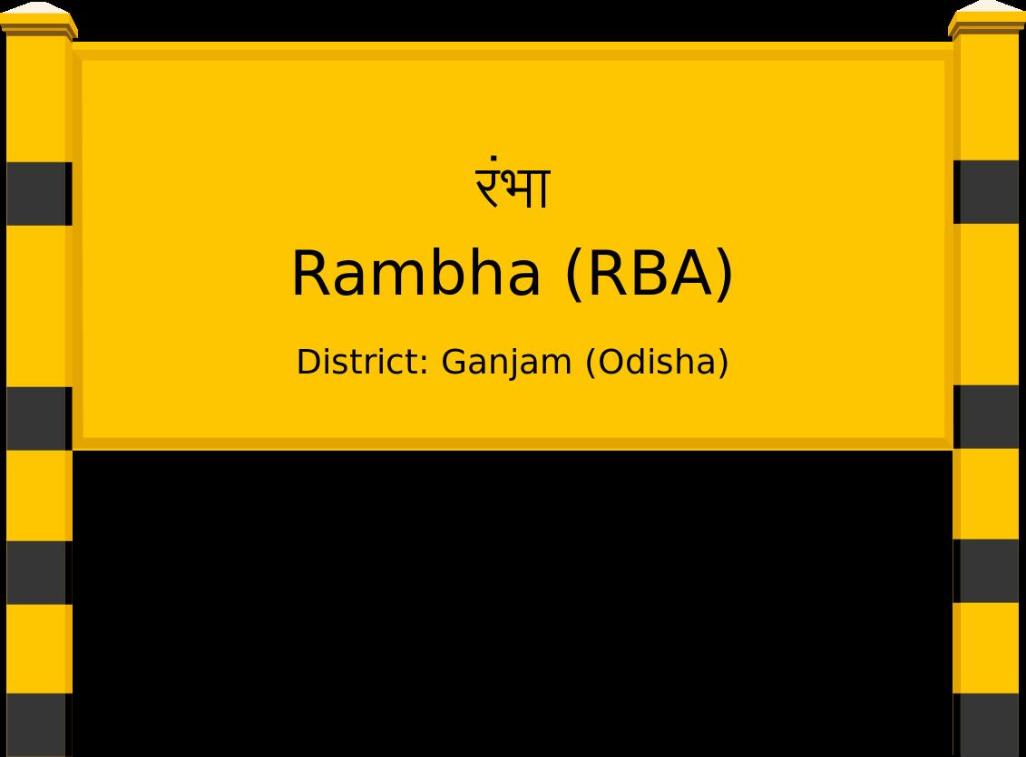 Rambha (RBA) Railway Station